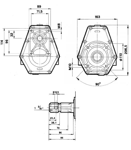 multiplicateur gr2 m rapport 3 5 ouest hydraulique. Black Bedroom Furniture Sets. Home Design Ideas