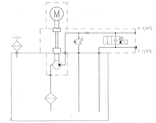 mini centrale 220v mono ouest hydraulique. Black Bedroom Furniture Sets. Home Design Ideas